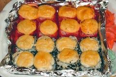 Roached Rolls e tempura Immagine Stock Libera da Diritti