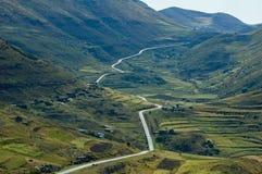 Road 10 van Lesotho Stock Afbeelding