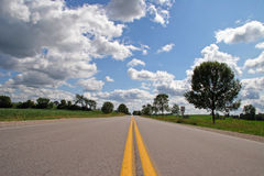 Road. Highway 85 in Ontario, Canada Stock Image