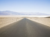 Road. A straight, long road in death valley national park Royalty Free Stock Image