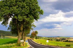 Road. To Slovak Paradise. Photo taken by August2009 Royalty Free Stock Images
