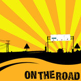 On The Road. Vector illustration of a highway Stock Images