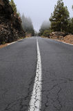 Road. To pico del teide on teneriffa stock photos
