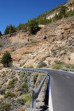 Road. In the caldera of teneriffa island royalty free stock image