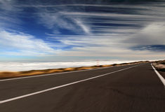 Road. Tenerife island. Mountain road above the clouds Stock Image