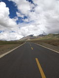 Road. Beautiful Tibet landscape, this is the road which conect Tibet and Shanghai Stock Photography