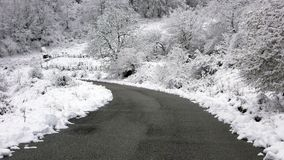 Road. In a winter mountain Bulgaria Stock Image