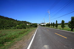 The Road. Take a photo in taiwan kenting in June2009 Stock Photo