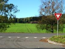 Road. Country road in Akershus in Norway royalty free stock photo