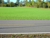 Road. Country road in Akershus in Norway stock images