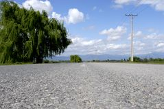 Road. Ground level view of a rural road royalty free stock photos