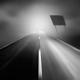 Road. In motion blur - background royalty free stock photo