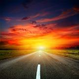 Road. Vedeschaya asphalt road to the sun Stock Image