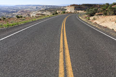 On the road. On a winding road in Utah, USA stock photo