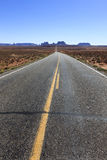On the road. To Monument Valley, Southwestern United States, USA royalty free stock photography