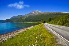 Road. Passing among mountains in Norway Stock Photography
