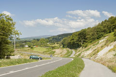Road. A road in Wales during summer royalty free stock images