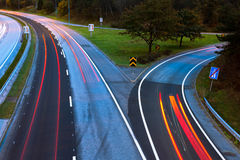 Road. View in a motion stop Stock Image