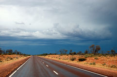 Road. Stuart highway in Australian outback Royalty Free Stock Images