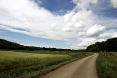 Road. Quiet road in some place in Europe royalty free stock photo