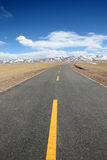 Road. A road on altiplano. Shot in Tibet of China Stock Photo