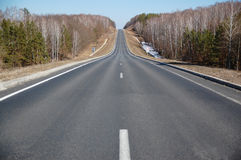 Road. Lonely road without cars and people Stock Image