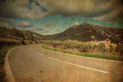 Road. Vintage photos. The road in mountains Royalty Free Stock Photo
