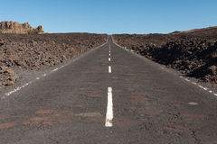 Road. In Teide National Park Stock Photos