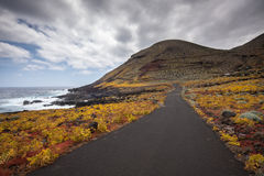 Road. A road in El hierro, Canary Islands.Spain Royalty Free Stock Images