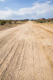 On the road. In Namibia, Southern Africa royalty free stock image