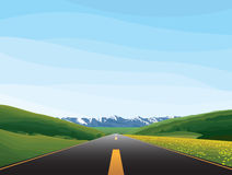 Road. Highway in nature as vector illustration Stock Photo