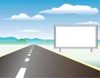 Road. Vector illustration of the blank panel Royalty Free Stock Image