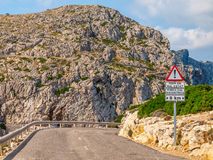 Road. To Cape Formentor, the northest point of Mallorca island Stock Photo