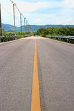 Road. Country road and mountain Stock Photography