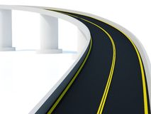 Road. Divided highway on white background Royalty Free Stock Photos