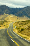 On the road. In south island New Zealand Stock Photos