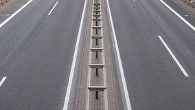 Road. Empty Highway with a Guardrail royalty free stock image