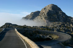 The road. In the mountains in Majorca in Spain royalty free stock image