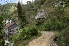 Road through abandoned town Honduras Stock Photography
