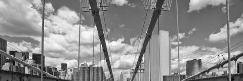 Road above Brooklyn Bridge Royalty Free Stock Photo