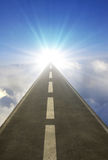 Road above clouds Royalty Free Stock Photos