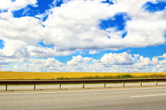 Road above the clouds. Royalty Free Stock Images