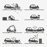 Road accident, car crash Royalty Free Stock Photography