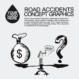 Road accident. The car crashed incident. Royalty Free Stock Photos