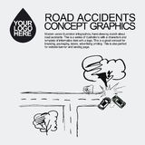 Road accident. The car crashed incident. Royalty Free Stock Images