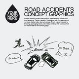 Road accident. The car crashed incident. Stock Photography