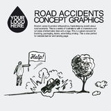 Road accident. The car crashed incident. Stock Images