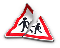 Road Accident Concept Stock Photos