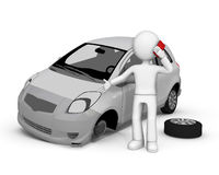 Road accident. royalty free illustration