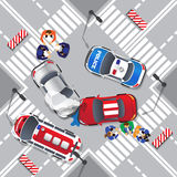 Road accident. vector illustration